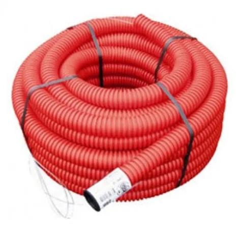 gaine électrique exterieur rouge